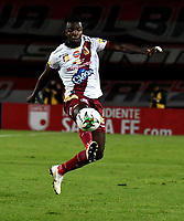 BOGOTÁ-COLOMBIA, 09-02-2019: Marco Pérez de Deportes Tolima, en acción durante partido de la fecha 4 entre Independiente Santa Fe y Deportes Tolima, por la Liga Aguila I 2019, en el estadio Nemesio Camacho El Campin de la ciudad de Bogotá. / Marco Pérez of Deportes Tolima, in action during a match of the 4th date between Independiente Santa Fe and Deportes Tolima, for the Liga Aguila I 2019 at the Nemesio Camacho El Campin Stadium in Bogota city, Photo: VizzorImage / Luis Ramírez / Staff.