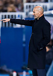 Manager Zinedine Zidane of Real Madrid reacts during the Copa del Rey 2017-18 match between CD Leganes and Real Madrid at Estadio Municipal Butarque on 18 January 2018 in Leganes, Spain. Photo by Diego Gonzalez / Power Sport Images