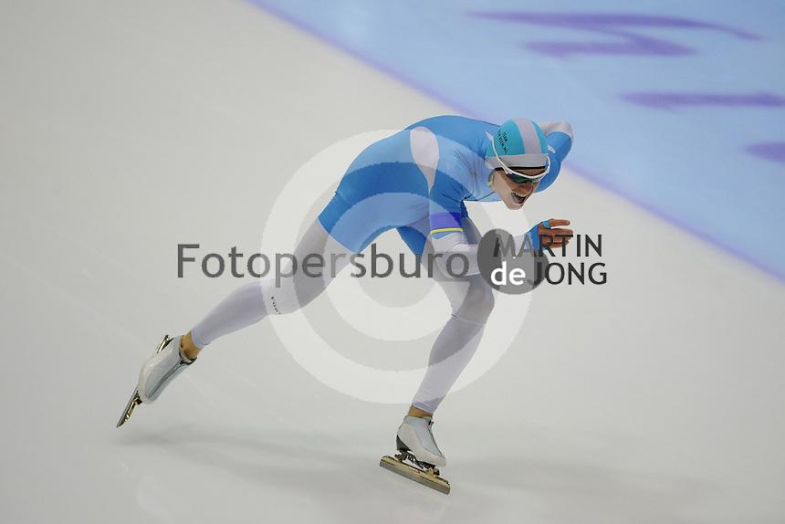 SCHAATSEN: HEERENVEEN: IJsstadion Thialf, 13-10-2012, Trainingswedstrijd, Maurice Vriend, ©foto Martin de Jong