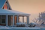 Winter sunrise in Newburyport, MA, USA