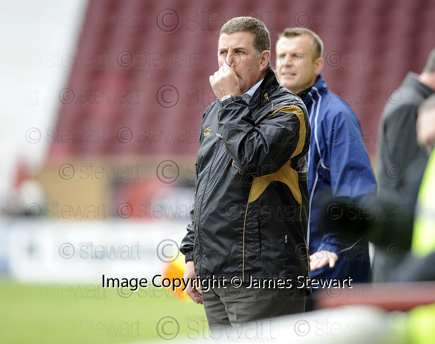 26/04/2008   Collect Pic: James Stewart.File Name : sct_jspa19_motherwell_v_dundee_utd.MOTHERWELL MANAGER MARK MCGHEE WATCHES HIS TEAM AGAINST DUNDEE UTD.James Stewart Photo Agency 19 Carronlea Drive, Falkirk. FK2 8DN      Vat Reg No. 607 6932 25.Studio      : +44 (0)1324 611191 .Mobile      : +44 (0)7721 416997.E-mail  :  jim@jspa.co.uk.If you require further information then contact Jim Stewart on any of the numbers above........