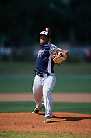 Evan Adolphus during the WWBA World Championship at the Roger Dean Complex on October 19, 2018 in Jupiter, Florida.  Evan Adolphus is a right handed pitcher from Fullerton, California who attends Orange Lutheran High School and is committed to Cal State Fullerton.  (Mike Janes/Four Seam Images)