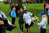 Craig Connelly walks with Zara Phillips during the ProAm ahead of the 2016 BMW PGA Championships played over the West Course Wentworth from 26th to 29th May 2016. Picture Stuart Adams, www.golftourimages.com: 25/05/2016