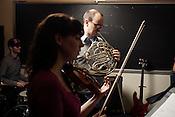 Jamie Keesecker, Duke New Music Esemble, Durham, North Carolina, Monday, Nov. 5, 2012. .