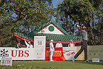 Justin Rose of England tees off the 18th hole during the 58th UBS Hong Kong Golf Open as part of the European Tour on 09 December 2016, at the Hong Kong Golf Club, Fanling, Hong Kong, China. Photo by Vivek Prakash / Power Sport Images