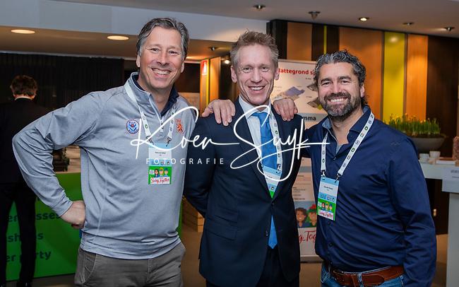 BUSSUM -   Floris van Imhoff, Koert Donkers en Alexander Renders (NGF) Nationaal Golf Congres & Beurs. COPYRIGHT KOEN SUYK