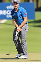 Paul Dunne (IRL) putts on the 10th green during Sunday's Final Round of the 2018 Turkish Airlines Open hosted by Regnum Carya Golf &amp; Spa Resort, Antalya, Turkey. 4th November 2018.<br /> Picture: Eoin Clarke | Golffile<br /> <br /> <br /> All photos usage must carry mandatory copyright credit (&copy; Golffile | Eoin Clarke)