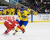 Jakub Jerabek  (Czech Republic - 15), Jonathan Johansson (Sweden - 21) - Sweden defeated the Czech Republic 4-2 at the Urban Plains Center in Fargo, North Dakota, on Saturday, April 18, 2009, in their final match of the 2009 World Under 18 Championship.