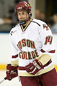 Matt Greene (Boston College - Plymouth, MA) is announced as a starter before the 2007 NCAA Northeast Regional Final on Sunday, March 25, 2007 at the Verizon Wireless Arena in Manchester, New Hampshire.