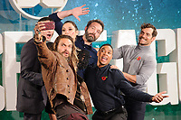 Jason Momoa, Ezra Miller, Gal Gadot, Ben Affleck, Ray Fisher and Henry Cavill<br /> at the &quot;Justice League&quot; photocall,  London<br /> <br /> <br /> &copy;Ash Knotek  D3345  04/11/2017