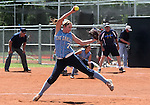 Centennial's Taylor Huntly pitches against Reed High School during an NIAA 4A semi-final softball game in Reno, Nev. on Thursday, May 16, 2012. Reed won 5-4..Photo by Cathleen Allison