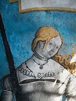 Fresken in den R&auml;umen des Abtes, Kloster zum heiligen Georg, Stein am Rhein, Kanton Schaffhausen, Schweiz<br /> frescoes, Saint George's Abbey in Stein am Rhein, Canton Schaffhausen, Switzerland