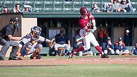 STANFORD, CA - February 20, 2016:  Stanford plays its season opener vs Cal State Fullerton at Klein Field at Sunken Diamond. Stanford won 2-0.