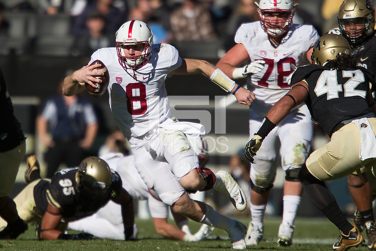 BOULDER, CO -- November 7, 2015: The Stanford Cardinal defeat the University of Colorado Buffaloes at Folsom Field in Boulder, Colorado on Saturday, November 7, 2015.
