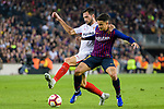 Philippe Coutinho of FC Barcelona (R) fights for the ball with Franco Vazquez of Sevilla FC (L) during the La Liga 2018-19 match between FC Barcelona and Sevilla FC at Camp Nou Stadium on October 20 2018 in Barcelona, Spain. Photo by Vicens Gimenez / Power Sport Images