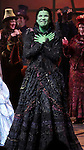 Lindsay Mendez  during the 10th Anniversary on Broadway Curtain Call for 'Wicked'  at the Gershwin Theatre on October 30, 2013  in New York City.