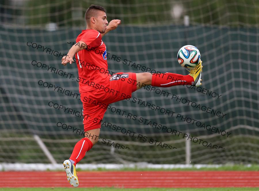 Fudbal season 2013-2014<br /> FK Crvena Zvezda pripreme<br /> Crvena Zvezda v Krka<br /> Nikola Karaklajic<br /> Novo Mesto, 07.12.2014.<br /> foto: Srdjan Stevanovic/Starsportphoto &copy;