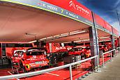 8th June 2017, Alghero, West Coast of Sardinia, Italty; WRC Rally of Sardina,  The Citroen pit area