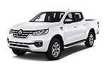 2018 Renault Alaskan Foraker 4 Door Pick Up angular front stock photos of front three quarter view