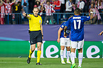 Jonas Eriksson during the match of  Champions LEague between  Atletico de Madrid and LEicester City Football Club at Vicente Calderon  Stadium  in Madrid, Spain. April 12, 2017. (ALTERPHOTOS / Rodrigo Jimenez)