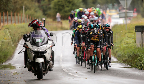 8th September 2017, Newmarket, England; OVO Energy Tour of Britain Cycling; Stage 6, Newmarket to Aldeburgh; BOOM Lars of LottoNL-Jumbo leads the peleton