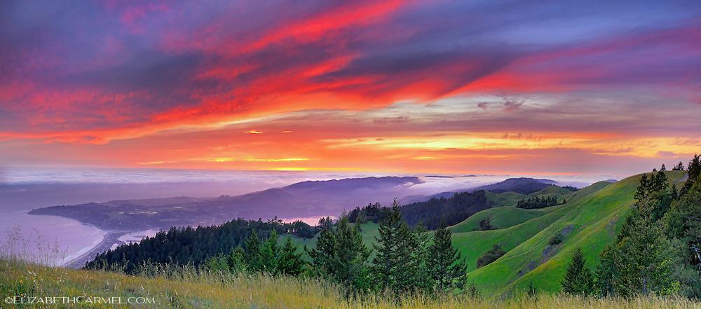 Spring Sunset, Marin Hills