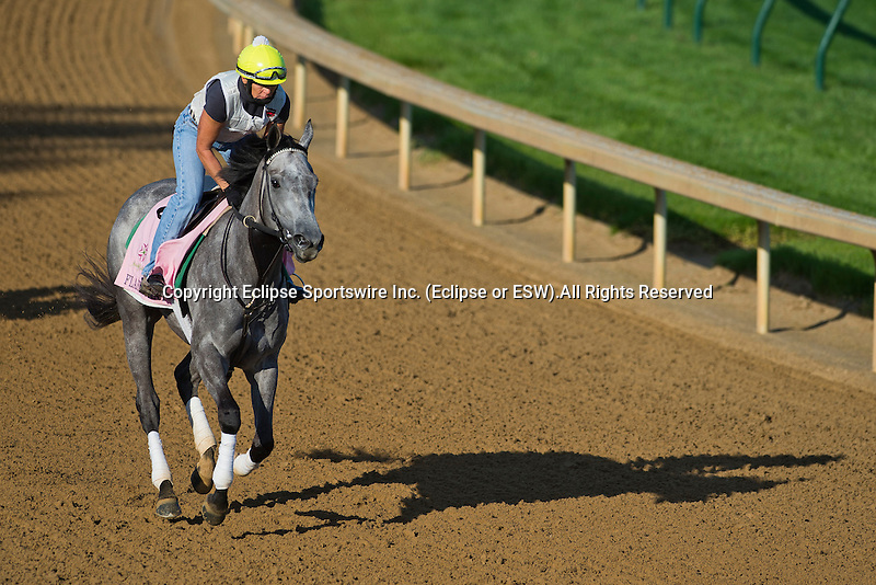 Flaskback during morning workouts for the Kentucky Oaks at Churchill Downs in Louisville, Kentucky on May 1, 2013.