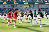 9th November 2019; Bankwest Stadium, Parramatta, New South Wales, Australia; International Womens Friendly Football, Australia versus Chile; the Chile team warms up before kick off - Editorial Use