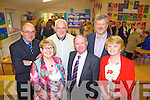 Attending the official opening of a new extension to Scoil Chorp Chri?ost in Knockanure last Friday night was l-r: Maurice Dowling(Chair BOM), Julienne Donegan(Principal), Fr Lucid(PP), Cllr Pat Leahy, Eoin Liston and Breday Kiely(Dep Principal).