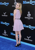 """01 August 2016 - Hollywood, California. Greer Grammer. World premiere of """"Nine Lives"""" held at the TCL Chinese Theatre. Photo Credit: Birdie Thompson/AdMedia"""