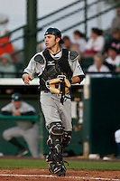 April 12th 2010: Travis d'Arnaud of the Dunedin Blue Jays Florida State League High-A affiliate of the Toronto Blue Jays  in a game against the Daytona Cubs, Florida State League High-A affiliate of the Chicago Cubs at Jackie Robinson Ballpark in Daytona Beach, FL (Photo By Scott Jontes/Four Seam Images)