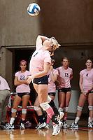 SAN ANTONIO, TX - OCTOBER 4, 2012: The Louisiana Tech University Lady Techsters versus The University of Texas at San Antonio Roadrunners Volleyball at the UTSA Convocation Center. (Photo by Jeff Huehn)