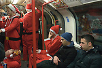 Christmas London Underground train 2015. UK