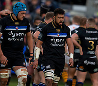Bath Rugby's Taulupe Faletau<br /> <br /> Photographer Bob Bradford/CameraSport<br /> <br /> European Rugby Heineken Champions Cup Pool 1 - Bath Rugby v Wasps - Saturday 12th January 2019 - The Recreation Ground - Bath<br /> <br /> World Copyright &copy; 2019 CameraSport. All rights reserved. 43 Linden Ave. Countesthorpe. Leicester. England. LE8 5PG - Tel: +44 (0) 116 277 4147 - admin@camerasport.com - www.camerasport.com