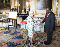 Queen Elizabeth II Private Audience with South African President Cyril Ramaphosa