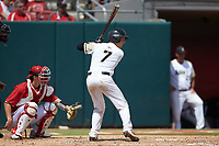 Jon Rosoff (7) of the Army Black Knights at bat against the North Carolina State Wolfpack at Doak Field at Dail Park on June 3, 2018 in Raleigh, North Carolina. The Wolfpack defeated the Black Knights 11-1. (Brian Westerholt/Four Seam Images)