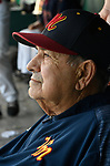 Vern Moehrs, longtime manager of the Waterloo Millers men's baseball team, at the 48th Annual Valmeyer Mid-Summer Baseball Classic Tournament in Valmeyer, IL on July 4, 2019. <br /> Photo by Tim Vizer