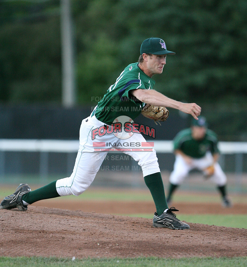 Andrew Alsup of the Jamestown Jammers, Class-A affiliate of the Florida Marlins, during New York-Penn League baseball action.  Photo by Mike Janes/Four Seam Images
