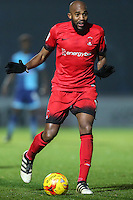 Nigel Atangana of Leyton Orient (15) during the Sky Bet League 2 match between Wycombe Wanderers and Leyton Orient at Adams Park, High Wycombe, England on 17 December 2016. Photo by David Horn / PRiME Media Images.