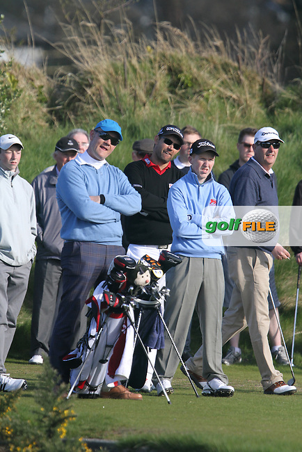Gavin Moynihan (The Island), Padraig Harrington (Stackstown) and John Grant (The Island) during the Hilary Golf Society Outing at Sutton Golf Course...(Photo Jenny Matthews/www.golffile.ie)