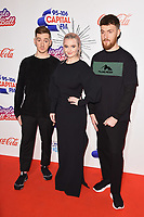 LONDON, UK. December 09, 2018: Clean Bandit at Capital&rsquo;s Jingle Bell Ball 2018 with Coca-Cola, O2 Arena, London.<br /> Picture: Steve Vas/Featureflash