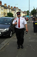 2016 06 08 Traffic warden swears at motorist, Cardiff, Wales, UK