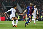 UEFA Champions League 2017/2018.<br /> Round of 16 2nd leg.<br /> FC Barcelona vs Chelsea FC: 3-0.<br /> Willian vs Sergio Busquets.