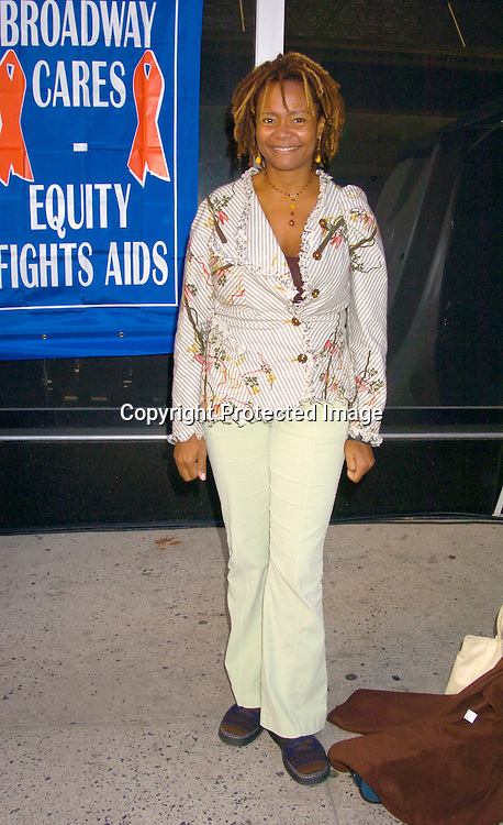 Tonya Pinkins ..at the Broadway Cares/ Equity Fights Aids Flea Market and Grand Auction on September 19, 2004 in Shubert Alley...Photo by Robin Platzer, Twin Images