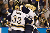 - The University of Notre Dame Fighting Irish defeated the University of New Hampshire Wildcats 2-1 in the NCAA Northeast Regional Final on Sunday, March 27, 2011, at Verizon Wireless Arena in Manchester, New Hampshire.