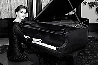 Montreal (qc) CANADA - file Photo - 1991 - <br /> <br /> <br /> EXclusive photoshoot - Nancy Lavoie, pianist