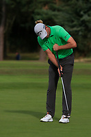 Marcel Siem (GER) on the 1st green during Round 3 of the Sky Sports British Masters at Walton Heath Golf Club in Tadworth, Surrey, England on Saturday 13th Oct 2018.<br /> Picture:  Thos Caffrey | Golffile