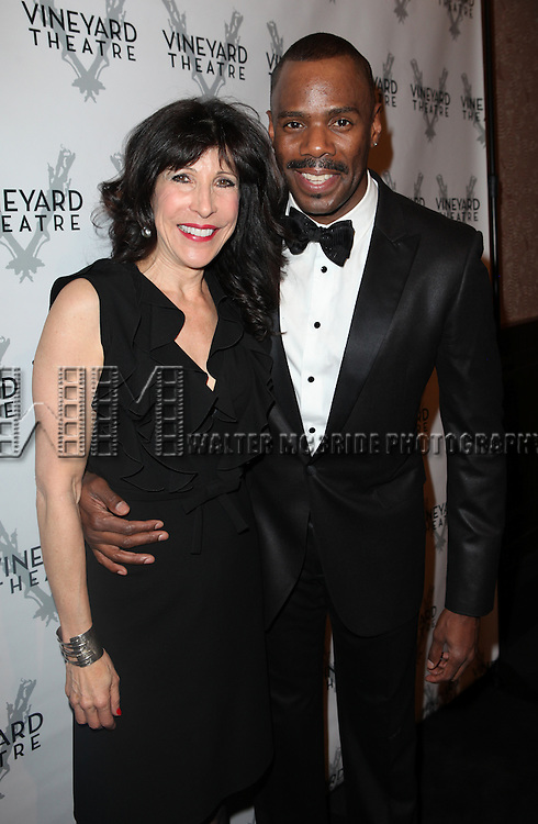 Catherine Schreiber & Coleman Domingo attending the Vineyard Theatre's 30th Anniversary Gala Celebration Cocktail Reception at the Edison Ballroom in New York City on 3/18/2013