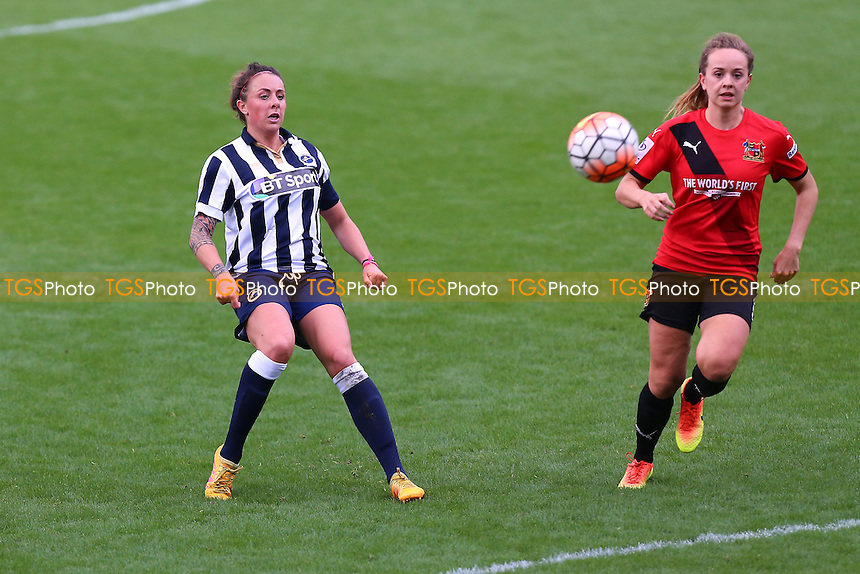 Ashlee Hinks of Millwall scores the first goal for her team during Millwall Lionesses vs Sheffield FC Ladies, FA Women's Super League FA WSL2 Football at The Den on 9th October 2016