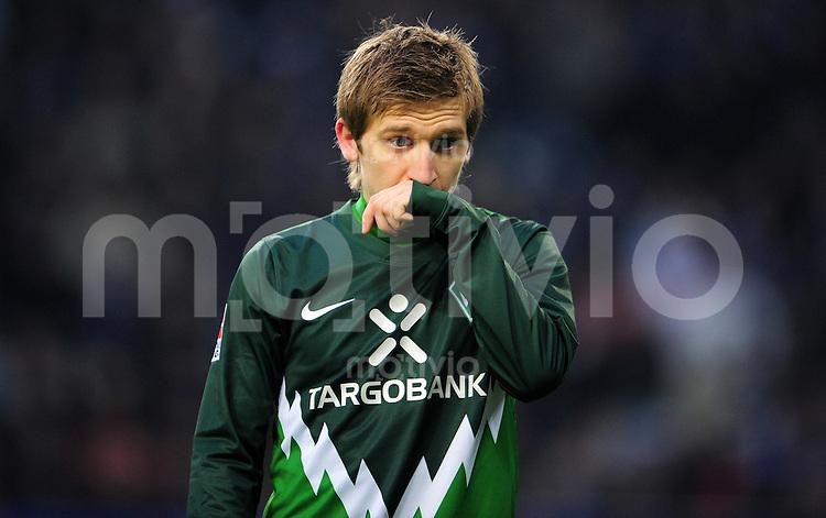 FUSSBALL   1. BUNDESLIGA   SAISON 2010/2010   23. Spieltag Hamburger SV - SV Werder Bremen                         19.02.2011 Marko MARIN (Bremen) enttaeuscht